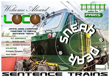 ENGLISH LITERACY:GRAMMAR: Loco- Sentence Trains Kit 03 SNEAK PEEK