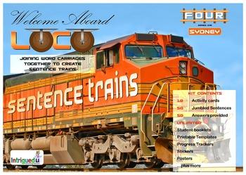 ENGLISH LITERACY:GRAMMAR: Loco- Sentence Trains Kit 04