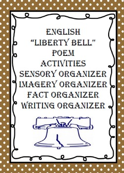 "ENGLISH ""Liberty Bell Poem""  With Activities"