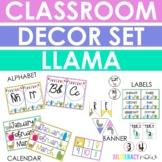 ENGLISH Llama Classroom Decor Set! Over 100 Pages!