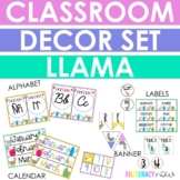 ENGLISH Llama Classroom Decor Set! Over 100 Pages!