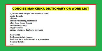 LANGUAGES, AFRICAN CULTURE: ENGLISH-MANDINKA FUN LEARNING PACKAGE (ON SALE)
