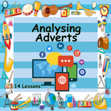 ENGLISH MEDIA - ANALYSING ADVERTS - MASSIVE 14 LESSONS - 44 FILES + SUPPORT