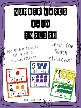 ENGLISH  Number Mats 1-10