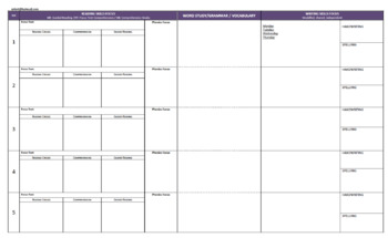 ENGLISH PLANNERS Foundation to Year 6 BUNDLED PACK