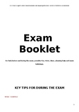 ENGLISH PRE / POST IN-DEPTH REVISION BOOKLET (for ALL exam
