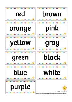 ENGLISH - SPANISH Color Pencils Flash Cards