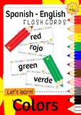ENGLISH - SPANISH Color Pencil Flash Cards