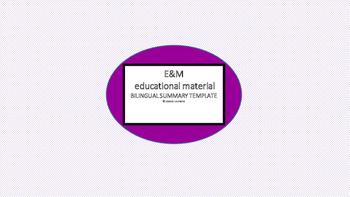 ENGLISH SPANISH SUMMARY TEMPLATE