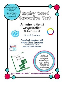 (ENGLISH) Summative Task Social Studies Canada's Interactions - Global Community