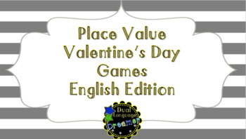ENGLISH Valentine's Day Place Value Games