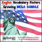 ENGLISH Vocabulary Posters ENDLESS GROWING MEGA BUNDLE