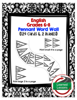 ENGLISH WORD WALL PENNANTS