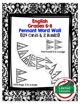 ENGLISH WORD WALL PENNANTS