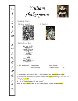 ENGLISH - William Shakespeare Autobiography _ brief and KEY
