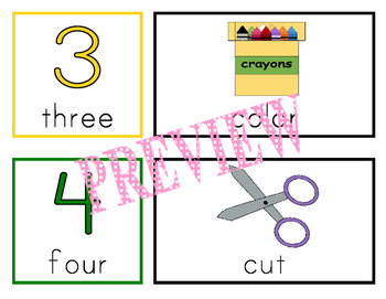 ENGLISH picture direction cards - 'Order of Operations' icons for classroom work