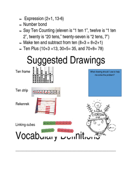 ENGY Module 1 Application/vocabulary/and tip booklet for kids