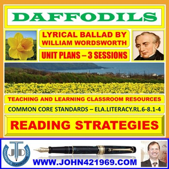 DAFFODILS - POEM COMPREHENSION: LESSONS & RESOURCES