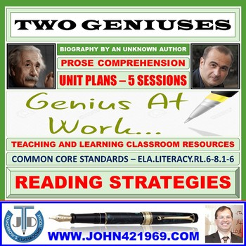 TWO GENIUSES-PROSE COMPREHENSION: LESSONS & RESOURCES