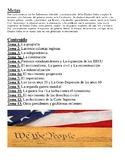 ENL Bilingual US History Regents Preparation Review Packet in Spanish