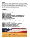 ENL Bilingual US History Regents Preparation Review Power Point in Spanish