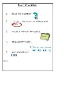 ENL/ESL Math Checklist