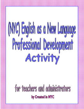 ENL Professional Development Activity NYC