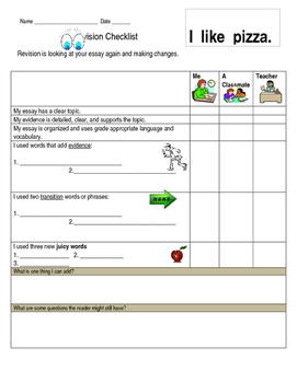 ENL Revision Checklist Common Core