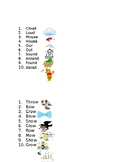 ENL Word Lists by Spelling Pattern with Picture Supports