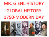 ENL World History Curriculum: 1750-Modern Day, (English and Spanish)
