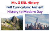 ENL World History Curriculum: Ancient History to Modern Day (English/Spanish)