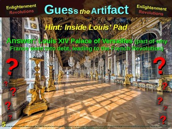 """ENLIGHTENMENT REVOLUTIONS """"Guess the Artifact"""" - for HS World History (3/10)"""
