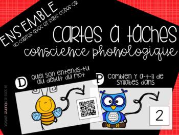 ENSEMBLE Cartes à tâches [conscience phonologique] {FRENCH Task Cards BUNDLE}