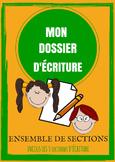 ENSEMBLE - Dossier d'écriture - Sections 1,2,3
