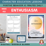 ENTHUSIASM   Google Apps   Positive Behavior   Daily Chara