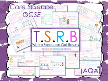 ENTIRE (2 years) GCSE Science Revision Mats (B1, B2, C1, C2, P1, P2) (30 Mats!)