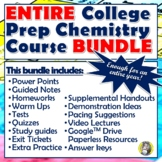 ENTIRE COLLEGE PREP CHEMISTRY COURSE - ENOUGH MATERIAL FOR ONE YEAR!