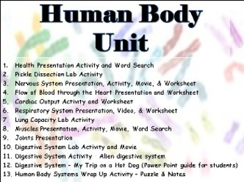 ENTIRE Human Body Unit