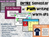 Entire SEMESTER of FUN Writing Warm-Ups!!
