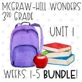 ENTIRE 3rd Grade McGraw-Hill Wonders Unit 1 Resource Bundle