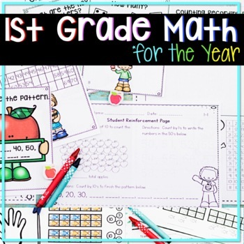 FIRST GRADE MATH UNITS FOR THE ENTIRE YEAR MEGA BUNDLE