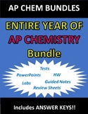 ENTIRE YEAR OF AP CHEMISTRY BUNDLE (Notes, HW, Labs, Tests)!!