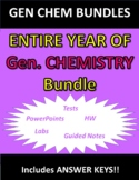 ENTIRE YEAR OF GENERAL CHEMISTRY BUNDLE (Notes, WS, Labs,