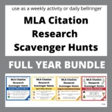 *BUNDLE* WHOLE YEAR Weekly MLA Internet Scavenger Hunts