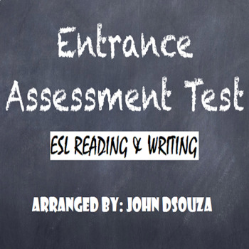 ENTRANCE ASSESSMENT TEST