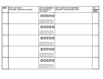 Self Assessment Tool for Students