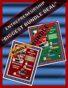 "ENTREPRENEURSHIP (BUNDLE) Parts 1&2 ""Create and Enhance YOUR Student Business"