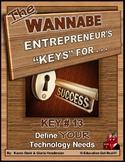 "ENTREPRENEURSHIP - KEY 13 – ""Define YOUR Technology Needs"""