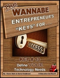 "ENTREPRENEURSHIP - KEY 13 – ""Define YOUR Technology Needs"""