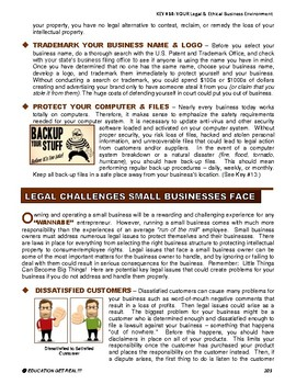 ENTREPRENEURSHIP - KEY 14 – YOUR Legal & Ethical Business Environment
